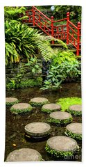 Oriental Garden Stepping Stones Bath Towel
