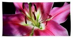 Oriental Trumpet Lily Bath Towel