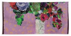 Original Bouquetaday Floral Painting 12x12 On Canvas, By Elaine Elliott, 59.00 Incl. Shipping Bath Towel
