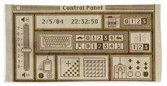 Original Mac Computer Control Panel Circa 1984 Bath Towel