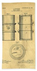 Original Patent For The First Metal Oil Drum Hand Towel