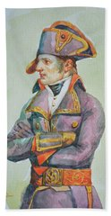original watercolor painting artwork portrait of NapoLeon on paper#10-029-01 Bath Towel
