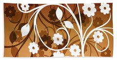 Hand Towel featuring the digital art Ornamental 2 Warm by Angelina Vick