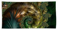 Ornamental Shell Abstract Bath Towel