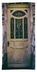 Ornamented Doors In Light Brown Color Bath Towel by Jaroslaw Blaminsky