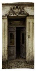 Ornamented Gate In Dark Brown Color Bath Towel by Jaroslaw Blaminsky