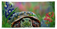 Ornate Box Turtle Hand Towel