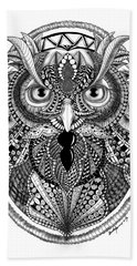 Ornate Owl Bath Towel