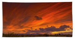 Hand Towel featuring the photograph Oro Valley Sunset H6 by Mark Myhaver