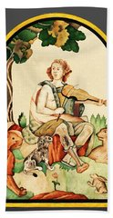 Hand Towel featuring the mixed media Orpheus by Asok Mukhopadhyay