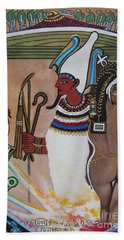 Blaa Kattproduksjoner         Osiris With Goddess Isis And 4 Grandkids Hand Towel