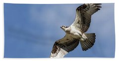 Bath Towel featuring the photograph Osprey 2017-3 by Thomas Young