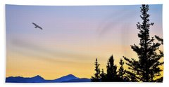 Osprey Against The Sunset Bath Towel