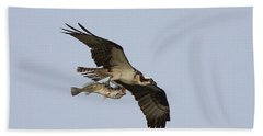 Osprey Catches A Fish Hand Towel