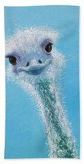 Ostrich Painting Hand Towel by Jan Matson