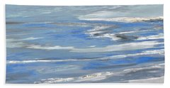 Ottawa River Abstract Hand Towel by Stephanie Moore