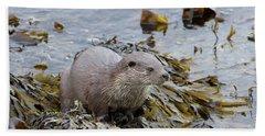 Otter On Seaweed Hand Towel