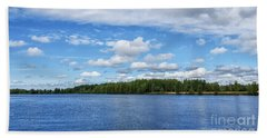 Oulujoki River In Oulu, Finland. Hand Towel