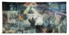 Our Monetary System  Bath Towel by Eskemida Pictures