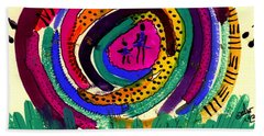 Our Own Colorful World I Bath Towel by Angela L Walker