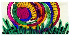 Bath Towel featuring the mixed media Our Own Colorful World IIi by Angela L Walker