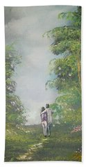 Bath Towel featuring the painting Our Time Together by Raymond Doward