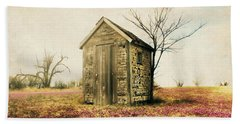 Hand Towel featuring the photograph Outhouse by Julie Hamilton
