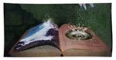 Out Of The Pond Hand Towel by Mary Hood