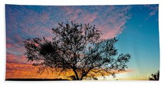 Outback Sunset Pano Hand Towel