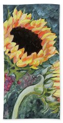 Outdoor Sunflowers Bath Towel