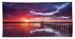 Outer Banks Duck North Carolina Sunset Seascape Photography Obx Bath Towel