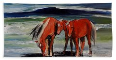 Outer Banks Wild Horses Bath Towel