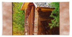 Bath Towel featuring the photograph Outhouse 1 by Susan Kinney