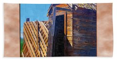 Bath Towel featuring the photograph Outhouse 2 by Susan Kinney