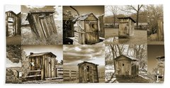 Outhouse Panel, Sepia Hand Towel