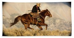 Outlaw Kelly Western Art By Kaylyn Franks Bath Towel