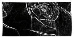 Hand Towel featuring the photograph Outline Of A Rose by Micah May