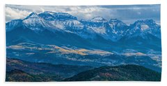 Outside Of Ridgway Hand Towel by Alana Thrower