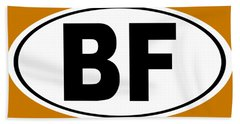 Oval Bf Beaver Falls Pennsylvania Home Pride Hand Towel by Keith Webber Jr