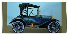 Overland 1911 Painting Hand Towel by Paul Meijering