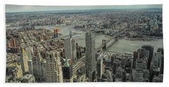 Overlooking Manhattan's East River  Hand Towel