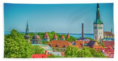 Overlooking Tallinn Bath Towel