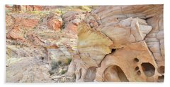 Overlooking Wash 5 In Valley Of Fire Hand Towel by Ray Mathis