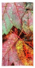 Overnight Rain Leaves Hand Towel by Todd Breitling