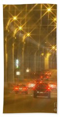 Bath Towel featuring the photograph Overpass Traffic by Linda Phelps