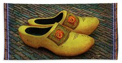 Hand Towel featuring the photograph Oversized Dutch Clogs by Hanny Heim