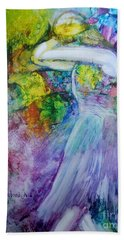 Bath Towel featuring the painting Overwhelming Love by Deborah Nell