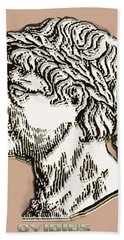 Hand Towel featuring the digital art Ovid by Asok Mukhopadhyay