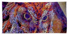 Owl Hand Towel by David Mckinney