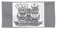 Owl Family Bath Towel